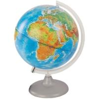 Глобус 250 мм двойная карта физический/политический с подсветкой на дуге и подставке из пластика 10166